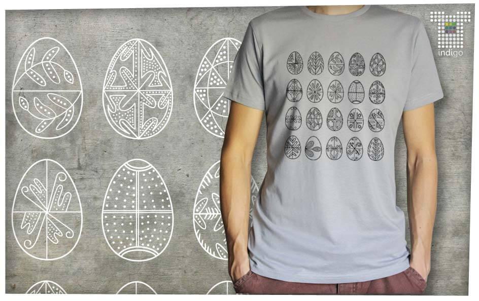 79f04dcfb7 Férfi póló, Húsvéti tojások fekete nyomat, BC Szuper (méret és ...